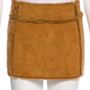 NWT. UGG | Chestnut Sherling Mini Skirt